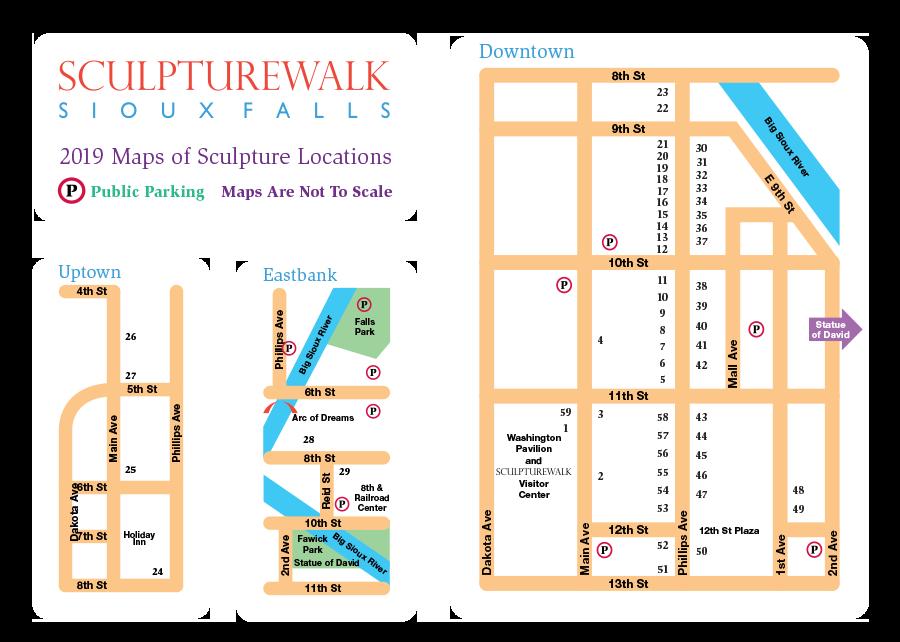 Map | SculptureWalk Sioux Falls